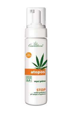 Cannaderm Atopos mycí pěna NEW 180ml