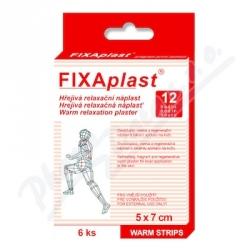 Náplast kapsaic.FIXAplast WARM STRIPS 5x7cm 6 ks