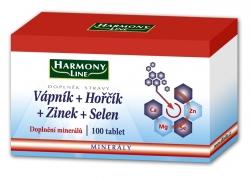 Harmony Line-Vápník+Hořčík+Zinek+Selen bls.tbl.100