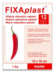 Náplast kapsaicinová FIXAplast WARM 12x16cm 1ks