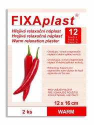 Náplast kapsaicinová FIXAplast WARM 12x16cm 2ks