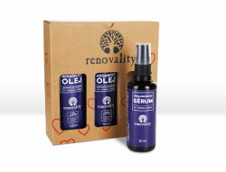 Renovality Sada-Arganový olej, Meruňkový olej, Hyaluronové sérum