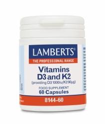 Vitamíny D3 a K2 60 cps