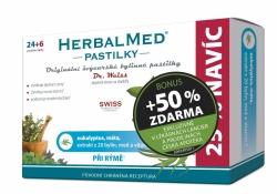 HerbalMed past. Dr.Weiss Eukalypt+máta+vit.C 24+12 BONUS