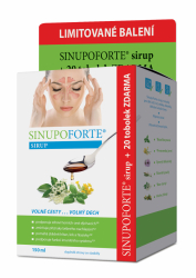 SINUPO Forte Sirup 150ml + zdarma 20tob.